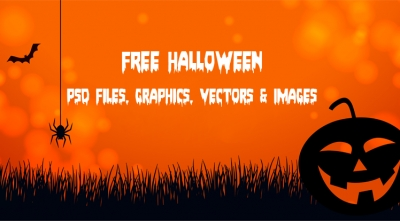 Special Freebies: 10 Free Graphic Sale Banner Templates in PSD for Halloween