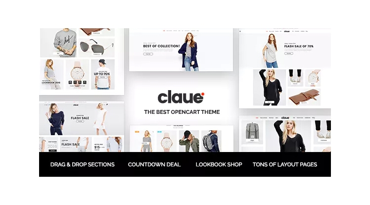 Claue - Clean & Minimalist OpenCart Theme