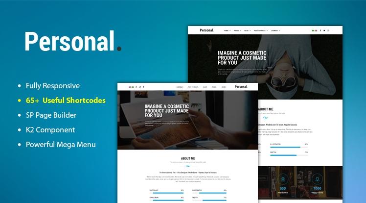 Sj Personal - FREE Responsive Multi-Purpose Personal Portfolio Joomla Template