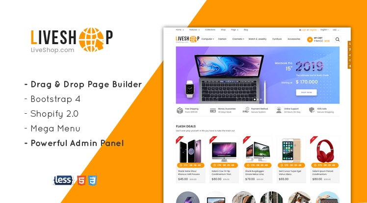 Ss LiveShop - Multipurpose Drag & Drop Shopify Theme