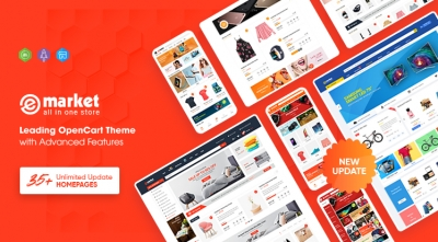 eMarket - Multi-purpose MarketPlace OpenCart 3 Theme (23+ Homepages & Mobile Layouts Included)