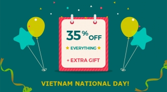 Vietnam National Day Special: 35% OFF & Free Exclusive Gift