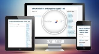 SJ Weather - Free Responsive Joomla! Module