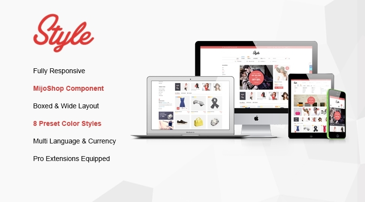 SJ Style - Complete solution for eCommerce sites with MijoShop component