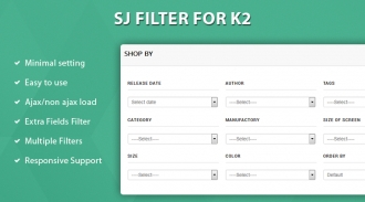 SJ Filter for K2 - Advanced Search & Filter Joomla Module