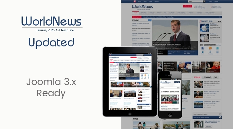 SJ WorldNews - Joomla Template for News magazine
