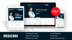 SJ Medicare - Responsive Joomla Medical & Healthcare Template