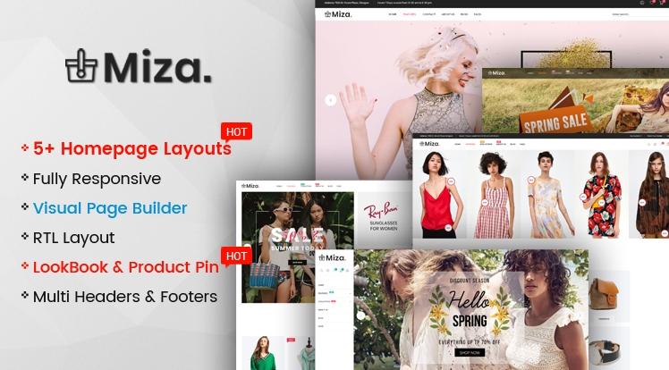 Ss Miza - Multipurpose Clothing And Fashion Bootstrap 4 Shopify Theme