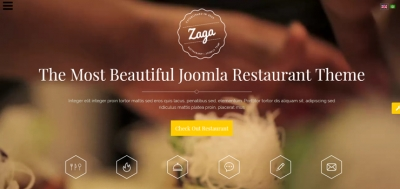 Promote your Restaurant with Delicous Onepage Design - SJ Zaga