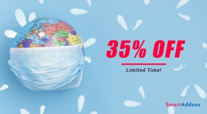 Covid-19 Infectiously Continue. We Support with 35% Off on All Products