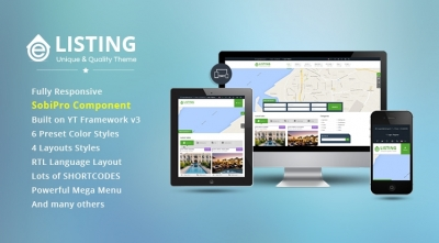 SJ eListing - Exquisite Joomla Template for Real Estate Websites