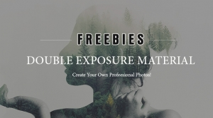 FREEBIES: 6 Beautiful Double Exposure PSD, Stocks & Brushes