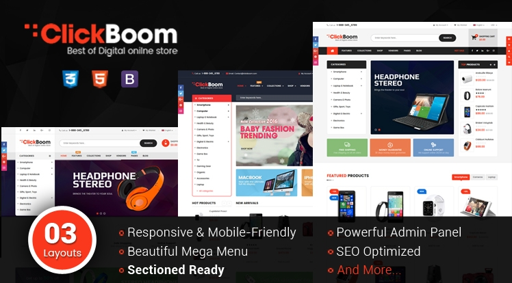 Ss ClickBoom - Responsive Multipurpose Shopify Theme Sections Ready