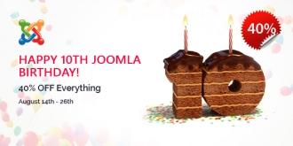 Happy 10th Joomla Birthday! 40% OFF Storewide