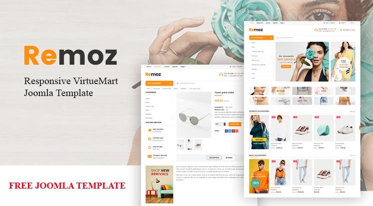 Sj Remoz - Free eCommerce Joomla Template for VirtueMart