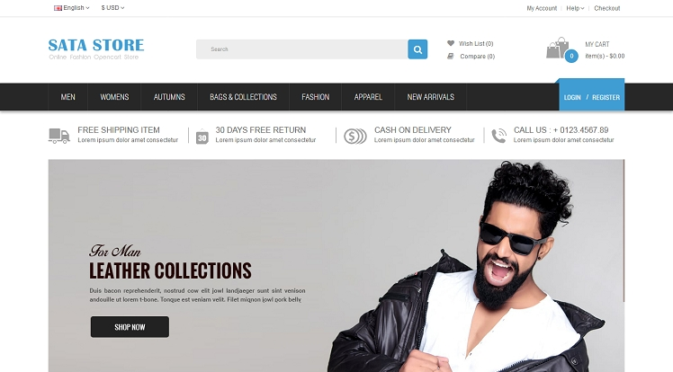 So Sata - Best Free Responsive eCommerce OpenCart 2.3.x Theme