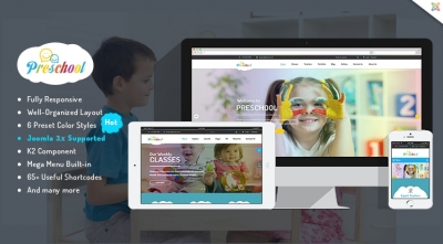 SJ Preschool - Responsive Education Joomla Template