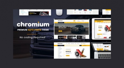 Chromium - Auto Parts, Equipments and Accessories Opencart Theme