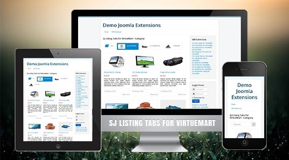 SJ Listing Tabs for VirtueMart - Responsive Joomla! Module