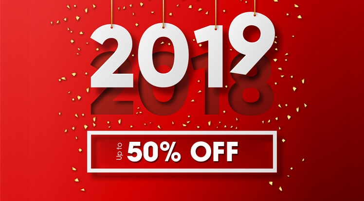Crazy Xmas & New Year Offer: Save up to 50% OFF on Everything