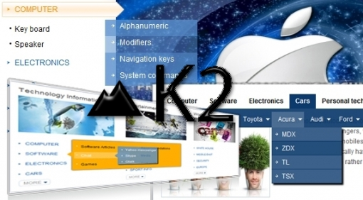 SJ Categories II for K2 - Joomla! Module