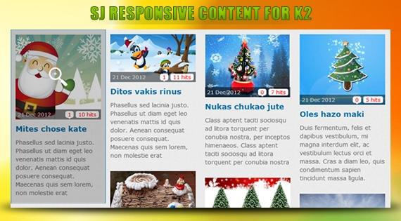 SJ Responsive Content for K2 - Joomla! Module