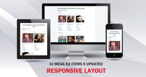 [UPDATE] SJ Mega K2 Items II updated Responsive Design