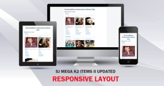 [UPDATE] SJ Mega K2 Items II updated Responsive Design