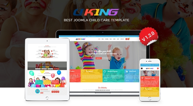 SJ Uking - Premium Adorable Joomla Template For Kindergarten