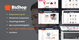 Sj Bizshop- Multipurpose & Responsive VirtueMart Joomla Template