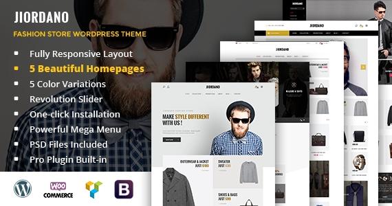 Jiordano - A Trending Design for Fashion WooCommerce WordPress Theme
